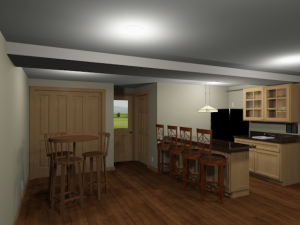 Garage Conversion 3D Rendering