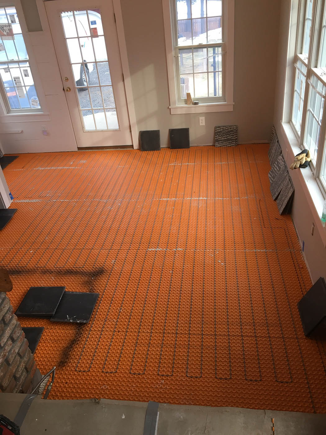 A floor warming system for a modern farmhouse hinman construction floor heating system details dailygadgetfo Gallery